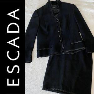 ESCADA Black Label satin trimmed skirt suit